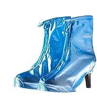 Nasalmate High Heel Overshoe Zippered Women Shoes Cover Reusealbe Women Waterproof Rain/Snow Shoes Cover Zippered Over Shoes