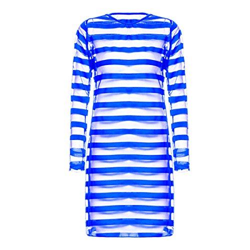 GSHGA Damen Pyjama Fun Unterwäsche Den Code Nachtrock Zu Erhöhen Blue