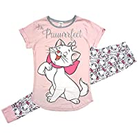 Womens Disney Aristocats Glitter Purrfect Marie Gift Pack Pyjamas Sizes from 8 to 22