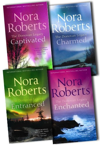Nora Roberts The Donovan Legacy 4 Books Collection Pack Set RRP: £27.96 (Enchanted, Entranced , Captivated, Charmed)
