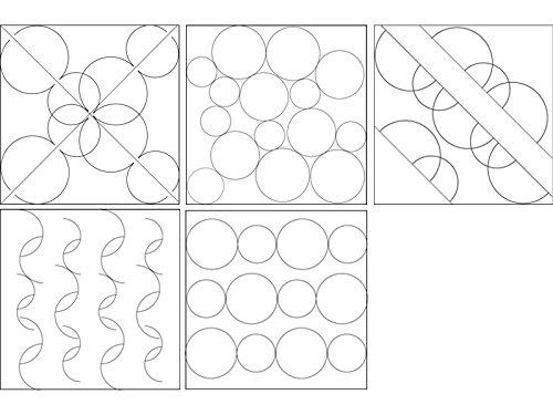 isew Quilt-Lineal Kreise/Halbkreise klein Plexiglas 5 mm/Größe 11 x 16 cm