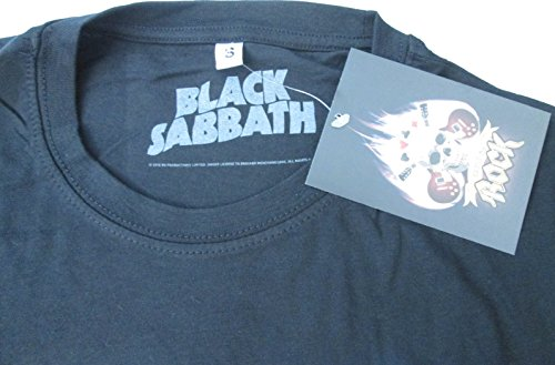 t-shirt NERA BLACK SABBATH maglietta originale -spedita da T-shirteria- XS S M L XL nero