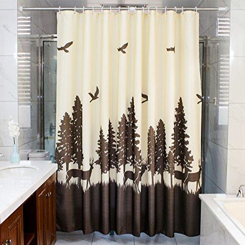 MDRW-Bad Toilette Wasserdicht Verdickung Duschvorhang Schimmel Beweise Gelber Reis Hochwertige Bad Vorhang Wc - Tür Vorhangw240 * H200