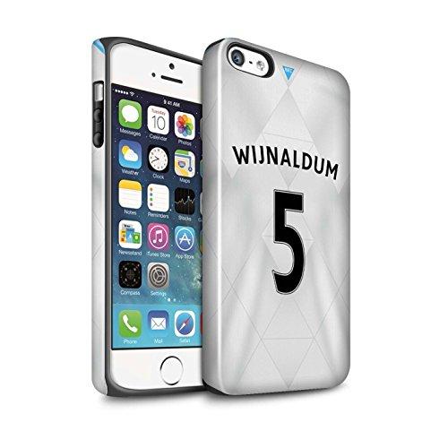 Offiziell Newcastle United FC Hülle / Glanz Harten Stoßfest Case für Apple iPhone SE / Pack 29pcs Muster / NUFC Trikot Away 15/16 Kollektion Wijnaldum