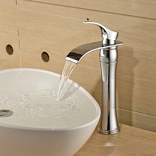Auralum Einhebel Wasserhahn Armatur Waschtischarmatur Wasserfall Einhandmischer f. Küche und Bad - 3