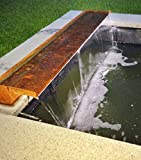 Wasserfall 45 cm incl. LED-Beleuchtung aus Cortenstahl (Roststahl) Wasserauslauf