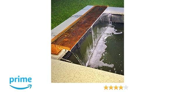 Wasserfall 45 cm Cortenstahl Roststahl incl LED-Beleuchtung Wasserauslauf Speyer
