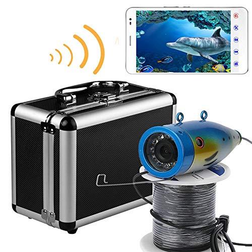 H&L HD WiFi Wireless 30M Unterwasser-Fishing-Kamera-Video-Recorder Für IOS Android APP unterstützt Video-Aufzeichnung und Aufnahme Foto mit 12 Stück weißen Lichtern,30M