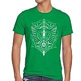 style3 Hyrule Wappen Herren T-Shirt link gamer, Größe:S;Farbe:Grün
