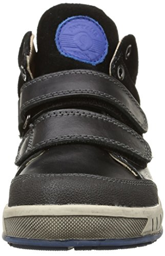 Garvalin Wigan, Sneakers Hautes garçon Noir (A Negro/Kaiser)