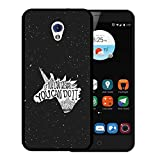 ZTE Blade V7 Hülle, WoowCase Handyhülle Silikon für [ ZTE Blade V7 ] Motivierungssatz - If You Can Dream It You Can Do It Handytasche Handy Cover Case Schutzhülle Flexible TPU - Schwarz