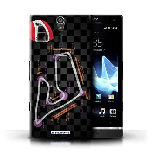 Kobalt® Imprimé Etui / Coque pour Sony Xperia S/LT26i / Russie/Sochi conception / Série 2014 F1 Piste Autriche/Spielberg
