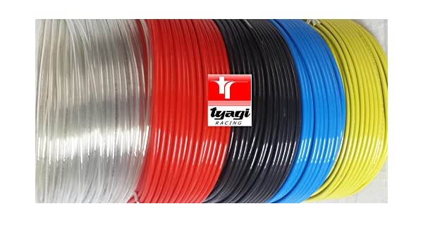 Tyagi Racing 6mm x 4mm Pneumatic Air Compressor Tubing PU Hose Tube Pipe 20 meter Blue