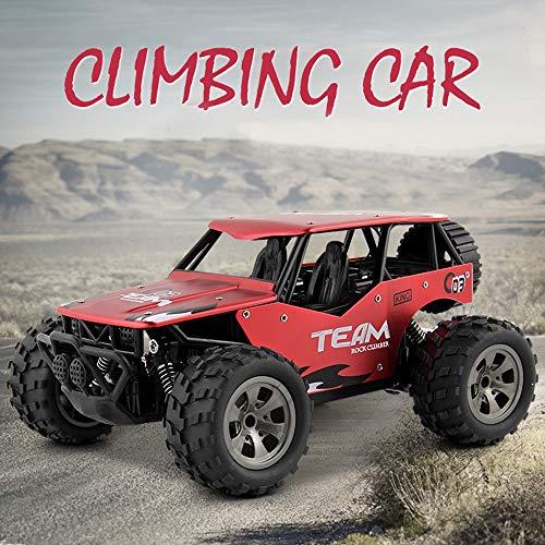 lustiges Spielzeug, ALIKEEY 2WD Rock Crawler 1/18 Wiederaufladbare Fernbedienung Fernsteuerung LKW Offroad RC Car (Wiederaufladbare Rock Crawler)