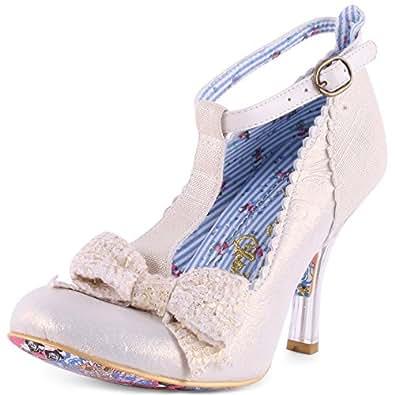 Irregular Choice Floxy Womens Leather Heels Off White - 42 EU