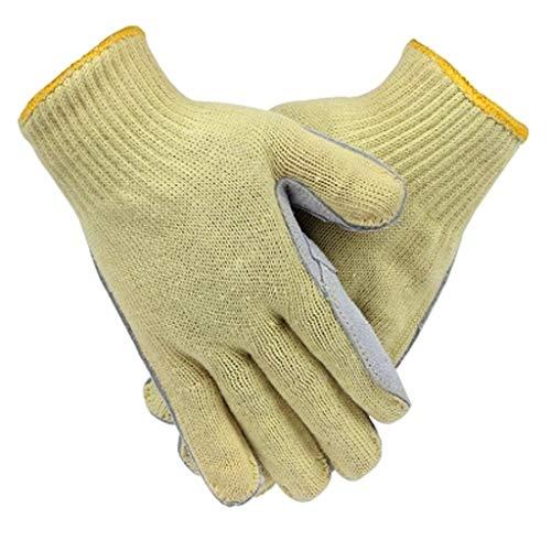 Ldjind Hochtemperaturbeständige Handschuhe Industrieller Arbeitsschutz Verschleißfest Flexibel Stichfest Schnittfest Verschleißfest Leder Handfläche Brandschutz Hitzebeständig Verbrühungsschutz Fünf F