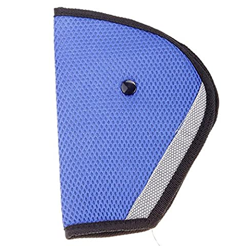 JaneDream 1 Pc Adjuster Kid Seat Belt Pad Clip Washable,Do Not Fade,Do Not Shrink,Without Distortion Blue