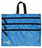 HOPEVILLE Reißverschlusstasche, 4 in 1 Reise Organizer mit vier großen Fächern für Dokumente, Tablet und Reiseutensilien / Premium Packbeutel für Reise, Freizeit und Ausflug (Blau)