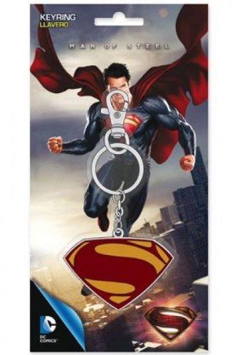 perman Metall Schlüsselanhänger - Man of Steel (Superman Logo)...toll verpackt in einer stabilen Blisterverpackung! offiziell lizenziertes Man of Steel Produkt (Man Of Steel 2 Batman Kostüm)