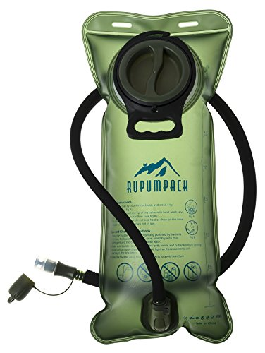 RUPUMPACK Water Bladder Leak Proof BPA Free Hydration Bladder 3 Liter 3L 100oz for Bicycling Hiking Camping Backpack/Gear, Quick Release Insulated Tube, Non Toxic Easy Clean Wide Opening