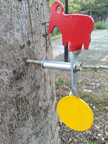 Geschraubt Typ Stahl Plinking Target - Ziege + Runde Plinking Target