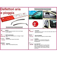 RICAMBIITALIA2017 Replacement 2017 Wind Deflectors Wind Deflectors Wind Shield Anti-Theft Rain Protection Front 19.589