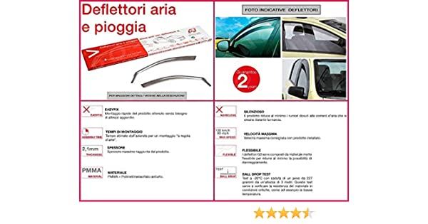 RICAMBIITALIA2017 Kit Deflettori Aria Antivento paravento antiturbo Antipioggia Anteriori 19.607
