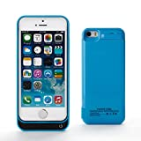 Zogin Coque Batterie Ultra Fin 4200mAh pour iPhone 5 5S 5C Haute capacité Batterie externe de secours rechargeable Housse batterie Power Case 6 couleurs à option – Bleu