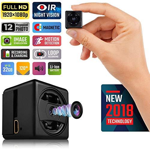 Pocket Kamera 1080P Vier Lichter Infrarot Nachtsicht Mini DV Seite Ladung Aufnahme Sport Action Kamera Überwachungskamera Hidden Spy Camera Camcorder