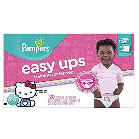Pampers Easy Ups Training Underwear Girls 4T-5T (Size 6), 120 Count (One Month Supply) by Pampers