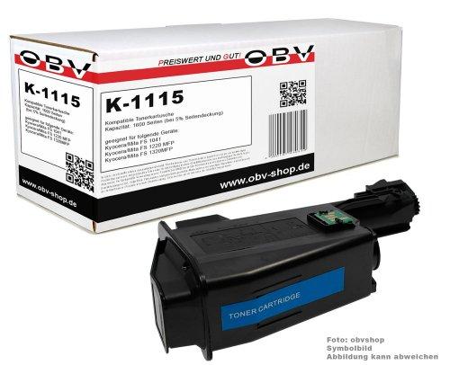 Kompatibler Toner ersetzt Kyocera TK-1115 für Kyocera Ecosys FS 1041 / FS 1220 MFP / FS 1320 MFP schwarz, 1600 Seiten