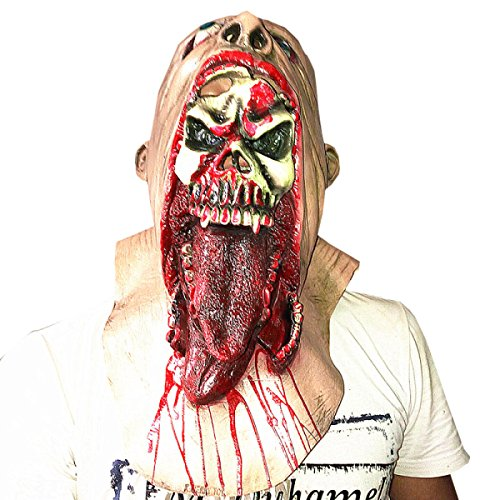 Nihiug Mutationen Teufel Biochemische Krise Saugen Blut Zombie Cap Halloween Haunted Haus Horror Requisiten Pest Doctor Mould Halloween Maske,A