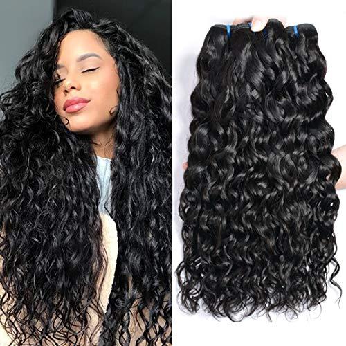 Ur beautiful 8a capelli umani ricci 100% naturale brasiliano capelli veri ricci tessitura ricci human hair 3 bundles 16 18 20 pollici water wave hair colore naturale(100+/-5g /pc, totale 300g)