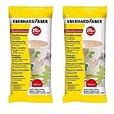 Eberhard Faber 570101 - Modelliermasse EFAPlast classic, 1 kg, weiß (Doppelpack)