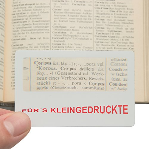 Scheckkarten-Lupe - Für´s Kleingedruckte