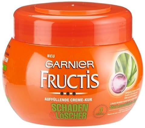 Garnier Fructis Haarkur Schaden Löscher Aufbauende Creme-Kur, Haarmaske für stark geschädigtes Haar, 3er Pack (3 x 300 ml)