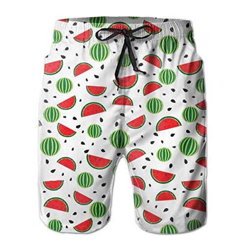 Pantalones de secado rápido con Bolsillos L, Sandalias de Summer Watermelon Seeds para Hombres