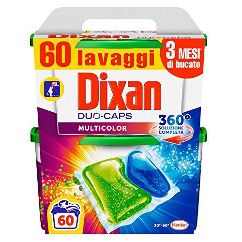 Dixan Duo Caps Colorati Detersivo Lavatrice in Capsule, 30 Lavaggi