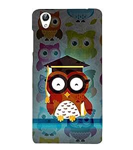 Girl ka Ullu Owl 3D Hard Polycarbonate Designer Back Case Cover for VIVO Y51L :: Y 51L