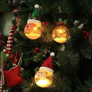 osmanthusFrag Navidad Lindo Santa Elk Muñeco De Nieve Forma LED Luz Bola Árbol Colgante Decoración Fiesta Adornos para El Hogar