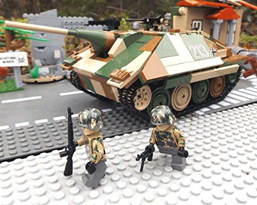✠ Modbrix 3001 - Bausteine Panzer Jagdpanzer 38 Hetzer inkl. custom Wehrmacht Soldaten aus original Lego© Teilen ✠ thumbnail