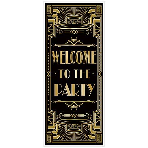 musykrafties Ruggenti Anni '20 Gatsby Festa a Tema Copertura per Porta 72x30 - Benvenuto alla Festa