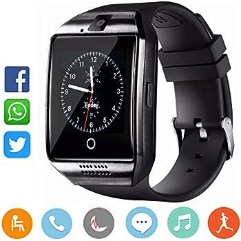 CatShin Reloj Inteligente-Bluetooth Smartwatch Android Samsung Sony IOS Con Ranura para tarjeta SIM Reloj de Deporte cronómetro Podómetro Anti-Pérdida Reloj ...