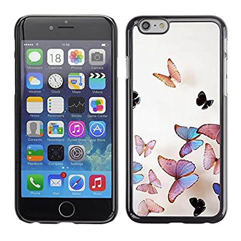 All Phone Most Case / Hard PC Metal piece Shell Slim Cover Protective Case Housse Coque Étui de protection pour Apple Iphone 6 butterfly peach iridescent pink nature