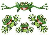 Divertente Frog - Rana divertente - Adesivo - Funny Frog Set 02