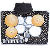 Novelty New Music Play Mat Children Kids Musical Mini Drum Set Great Gift For Kids