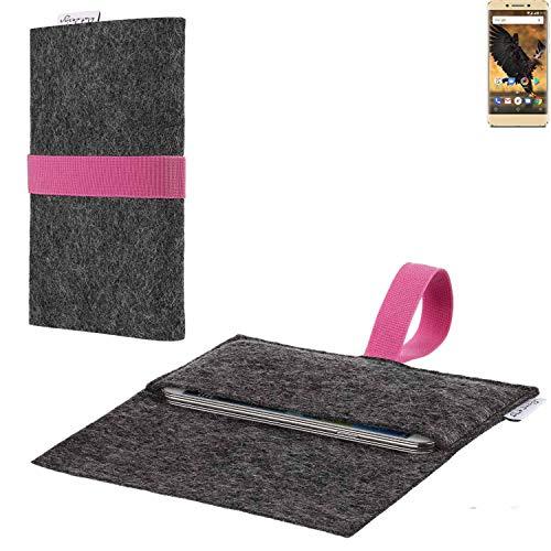 flat.design vegane Handy Hülle Aveiro für Allview P8 Pro passgenaue Filz Tasche Case Sleeve Made in Germany