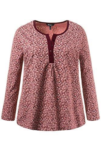 Ulla Popken Langarmshirt, Minimaldruck, Sweat-Shirt Femme rose-rouge