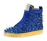 JUMP Newyork Herren Sloan Glitzer Spikes High Top Sneaker, Blau (königsblau), 41 EU