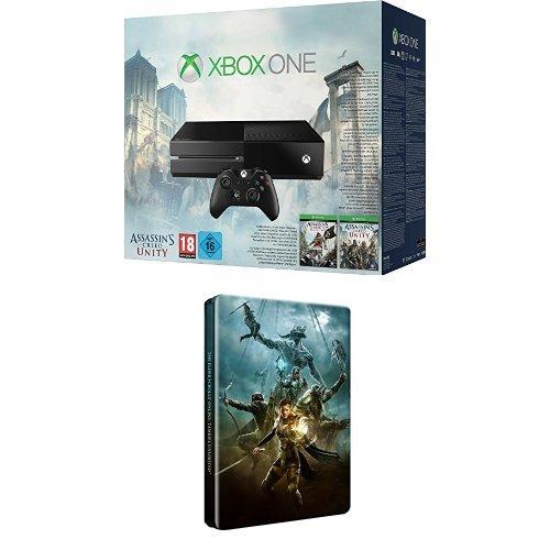 Xbox One Konsole inkl. Assassin's Creed Unity und Black Flag (DLC) + The Elder Scrolls Online: Tamriel Unlimited - Steelbook Edition (exklusiv bei Amazon.de) - Assassins One Xbox Creed